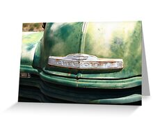 Route 66 - Old Green Chevy Greeting Card