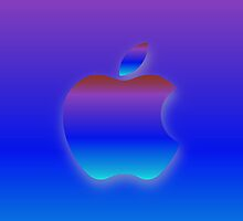 "Apple Logo ""Graduated Neon"" Cover by Greg Little"