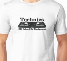 Technics Black Unisex T-Shirt