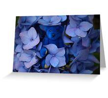Blue Bear plays Hide and Seek. Greeting Card
