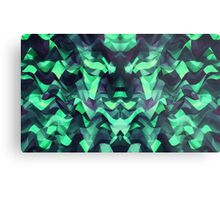Abstract Surreal Chaos theory in Modern poison turquoise green Metal Print