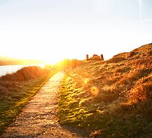 Sunset walk near coast in Wales, United Kingdom by ieatstars