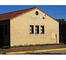 Abilene, Kansas - Railroad Station Photographic Print