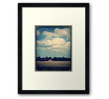 Drive-By Clouds Framed Print