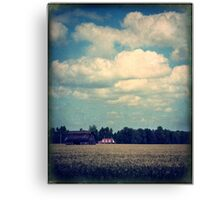 Drive-By Clouds Canvas Print