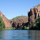 Canoeing the Gorge, Lawn Hill (Boodjamulla) National Park, Queensland by Adrian Paul