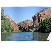 Canoeing the Gorge, Lawn Hill (Boodjamulla) National Park, Queensland Poster