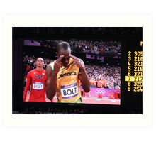 Gold on his mind - Usain Bolt Art Print
