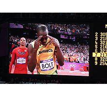 Gold on his mind - Usain Bolt Photographic Print