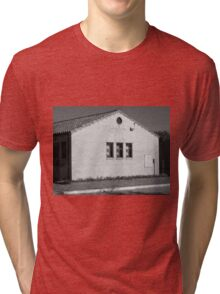 Abilene, Kansas - Railroad Station Tri-blend T-Shirt
