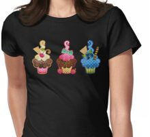 Cupcake Trio Womens Fitted T-Shirt