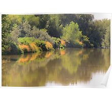 Color Splashes.. Boise River... Caldwell, Idaho Poster