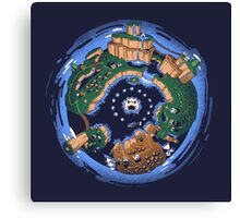 Mario World Planet Canvas Print