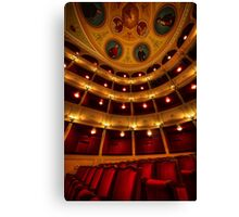 Classical theatre in Syros island Canvas Print