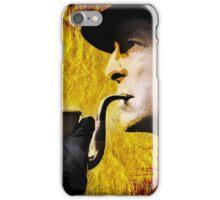 sherlock with pipe iPhone Case/Skin