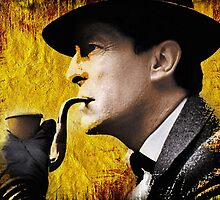 sherlock with pipe by arteology