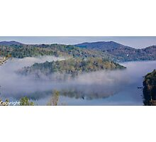 Blue Ridge Mountains early morning fog.  Photographic Print