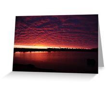 Sunset in the Outback Greeting Card