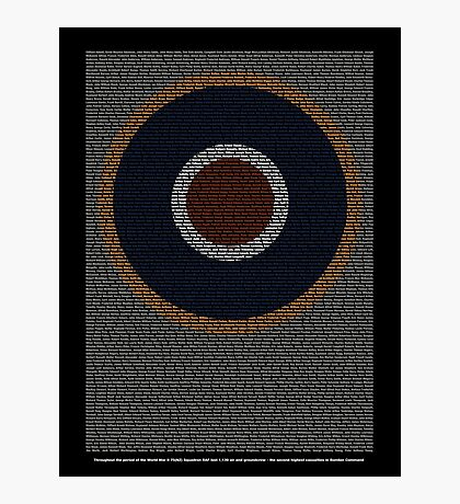 Roll of Honour 75(NZ) Squadron RAF 'Roundel' Photographic Print