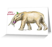 Happy Birthday Gomphotherium Greeting Card