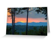 Last light over Cohutta Mountain Greeting Card