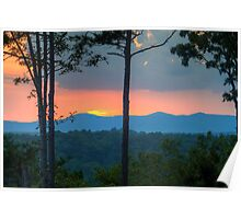 Last light over Cohutta Mountain Poster