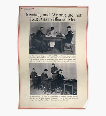 Reading and writing are not lost arts to blinded men002 Poster