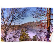 Fog in the Coosawattee River valley Poster