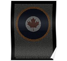 Roll of Honour 75(NZ) Squadron RCAF 'Maple' Poster