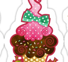 Cupcake Trio Sticker
