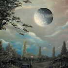 (A Dark Kind Of Love) By Fantasy Fairytale Landscape Artist Philippe Fernandez by Philippe Fernandez