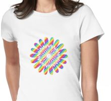 rainbow flower Womens Fitted T-Shirt
