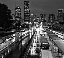 Wet Brisbane by Tony White