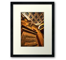 Statue of God Apollo Framed Print