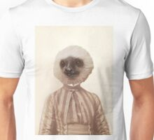 Vintage Sloth Girl Portrait Unisex T-Shirt