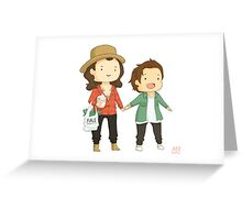 Larry on a walk Greeting Card