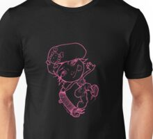 Skater Chick Hot Pink Unisex T-Shirt