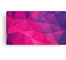 Abstract Polygon Multi Color Cubizm Painting in deep pink/purple  Metal Print