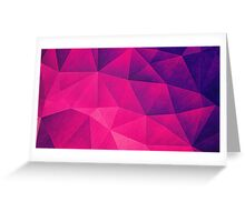 Abstract Polygon Multi Color Cubizm Painting in deep pink/purple  Greeting Card