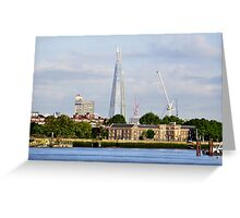 The Shard from Greenwich Greeting Card