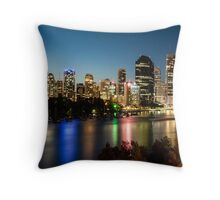The Lights of Brisbane Throw Pillow