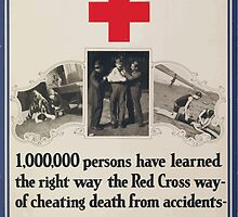 Red Cross first aid 1000000 persons have learned the right waythe Red Cross wayof cheating death from accidents by wetdryvac