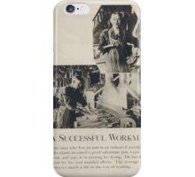 A successful workman iPhone Case/Skin