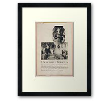 A successful workman Framed Print