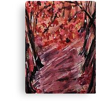 Fall in the woods, watercolor Canvas Print