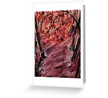 Fall in the woods, watercolor Greeting Card