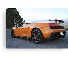 Lamborghini Gallardo LP570-4 Spyder Performante - Rear Canvas Print