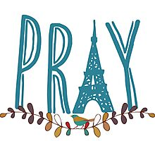 Pray for Paris Photographic Print