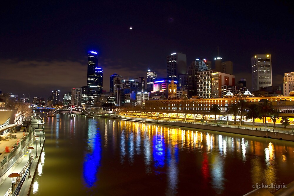 Southbank and Melbourne City by night by clickedbynic