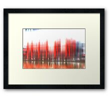 Jeff's red shed 1st Alternative Framed Print
